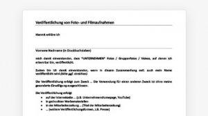 Einwilligung Foto-/Videoveröffentlichung (Word-Dokument)