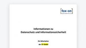 Informationen zu Datenschutz und Informationssicherheit (Word-Dokument)