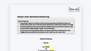 Muster einer Betriebsvereinbarung zur Internet-Nutzung mit Privatnutzung (Word-Dokument)