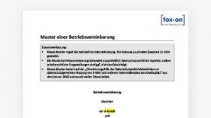 Muster einer Betriebsvereinbarung zur Internet-Nutzung ohne Privatnutzung (Word-Dokument)