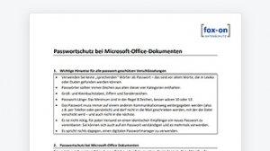 Schützen Sie ihre MS-Office Dokumente